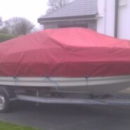 Speedboat winter cover