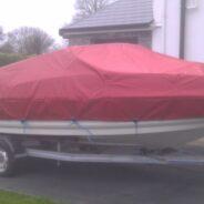 Speedboat winter cover